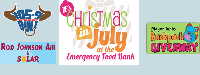 It's Christmas in July with the Emergency Food Bank & Mayor Tubbs Backpack Giveaway!