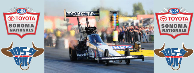 THE BULL WELCOMES THE TOYOTA NHRA SONOMA NATIONALS!